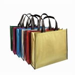 Metallic Non-woven laminated tote Bag