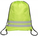 210D Polyester Reflective Drawstring Backpack