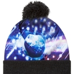 Full color sublimated pom beanie