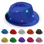 Flashing Sequins Hat with LED Lights