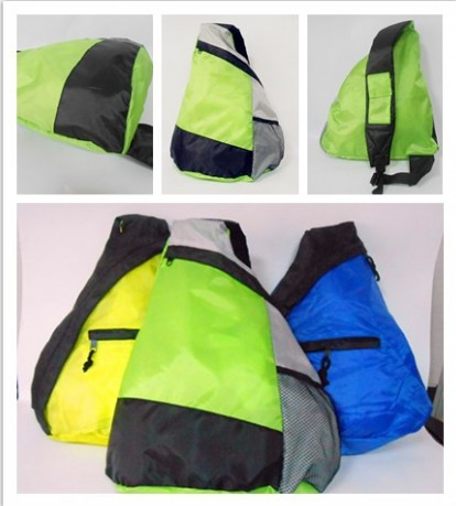 Foldable sling backpack